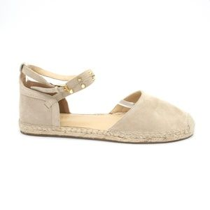 Marc Fisher Maci Gold Stud Strappy Flat Suede Espa